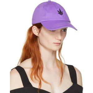 Palm Angels: Purple Vintage Weed Cap