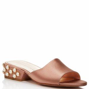 Stuart Weitzman Sliderpearl Satin Slide Sandals - 100% Exclusive | Bloomingdale's