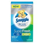 Snuggle Plus Super Fresh Fabric Softener Dryer Sheets, EverFresh, 105 Count
