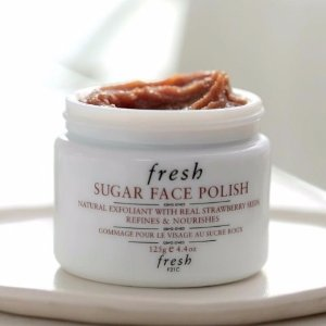 送最高12件好礼+托特包Fresh修女霜,大豆洁面,红茶面膜等美容护肤品
