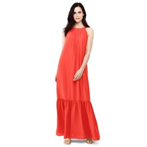 Women's Sleeveless Woven Tie Back Maxi Dress from Lands' End