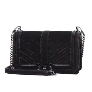 Rebecca Minkoff - Love Chevron Quilted Velvet Crossbody Bag - saks.com