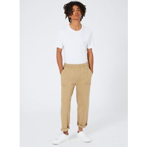 LTD Stone Elasticated Rolled Hem Chinos - Chinos  - Clothing