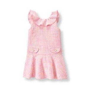Baby Girl Light Peony Pink Boucl� Dress at JanieandJack