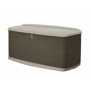 Rubbermaid 90 gal. Large Deck Box with Seat-FG5F2200OLVSS - The Home Depot