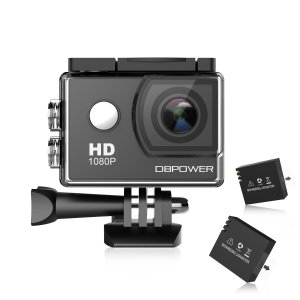 $29.63DBPOWER 12 MP 1080P 全高清170°防水运动相机套装