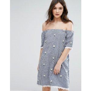 QED London 一字型连衣裙