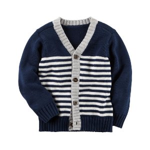 Toddler Boy Striped Button-Front Cardigan | Carters.com
