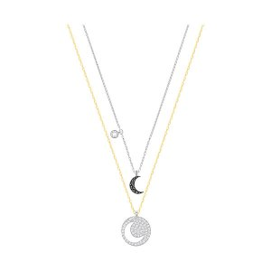 Crystal Wishes Moon Pendant Set, Black - Jewelry - Swarovski Online Shop