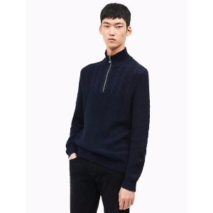 cotton cableknit fisherman sweater | Calvin Klein