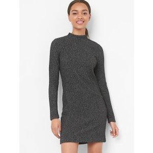 Long sleeve mockneck dress