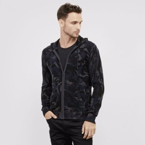 Camo Printed Zip-Up Hoodie | Kenneth Cole