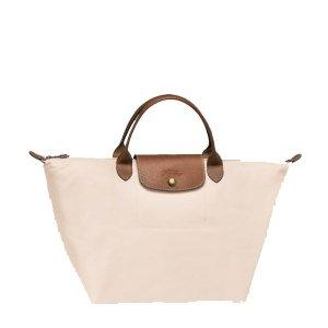 Longchamp Le Pliage Medium Handbag - Ivory