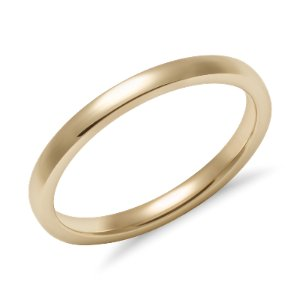 Low Dome Comfort Fit Wedding Ring in 14k Yellow Gold (2mm) | Blue Nile