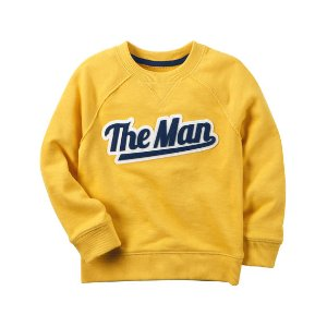 Kid Boy French Terry The Man Pullover | Carters.com