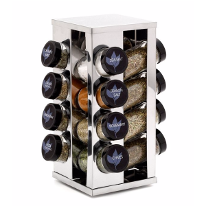 Kamenstein® 16 Jar Filled Heritage Stainless Steel Spice Rack | Bon-Ton