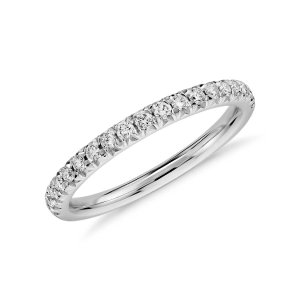 French Pavé Diamond Ring in Platinum (1/4 ct. tw.) | Blue Nile