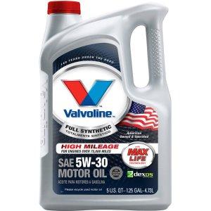from $6.975-Qt. Valvoline Motor Oil