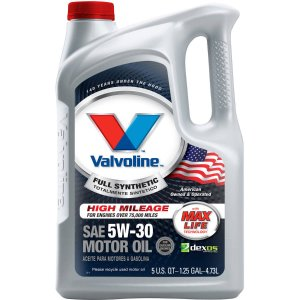 Valvoline Full Synthetic with Max Life Technology SAE 5W-30 Motor Oil 5qt - Walmart.com