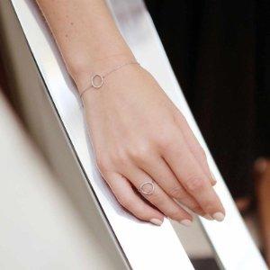 Silver Circle Charm bracelet