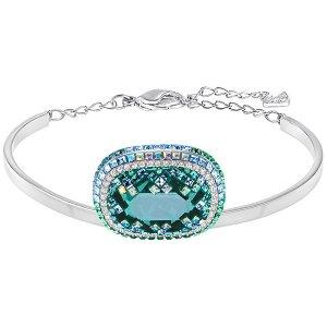 Gaia Bangle, Green - Jewelry - Swarovski Online Shop