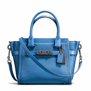 COACH Small Swagger Satchel 21 in Pebble Leather