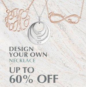 低至4折 + 额外8.5折Soufeel首饰,项链,耳环等超值热卖
