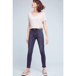 Paige Hoxton High-Rise Ankle Jeans | Anthropologie