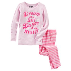 Kid Girl 2-Piece Glow-in-the-Dark Snug Fit Cotton PJs | OshKosh.com