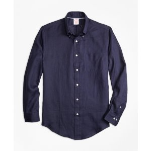 Madison Fit Irish Linen Sport Shirt - Brooks Brothers
