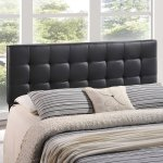Modway Lily Full Upholstered Vinyl Headboard in Black