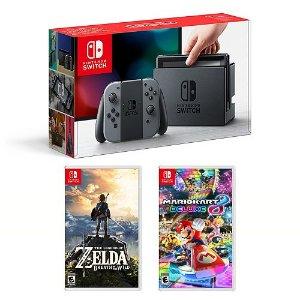 $419.99Nintendo Switch + Zelda BOTW + Mario Kart 8 Deluxe