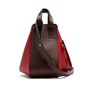 Hammock small contrast-panel leather tote
