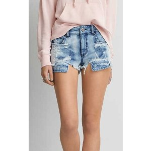AEO DENIM X4 HI-RISE SHORTIE