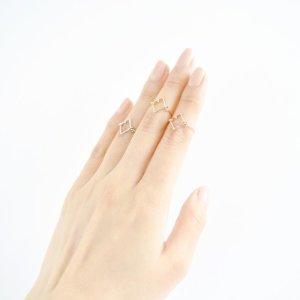 Silver Diamond Midi Ring