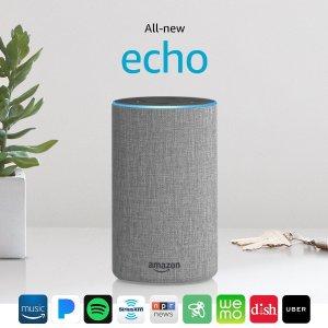 $79.99黒五价:Amazon Echo 2代