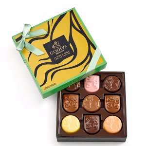 Limited Edition Assorted Chocolate Gold Icons Gift Box, 9 pc. | GODIVA