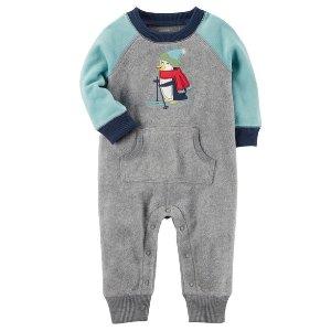 Fleece Colorblock Jumpsuit