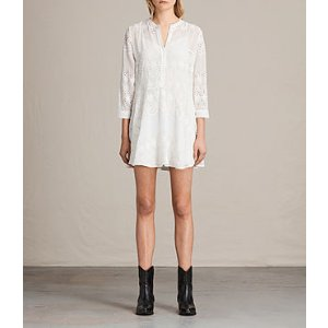 ALLSAINTS US: Womens Anais Dress (Chalk White)