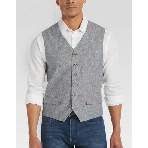 Joseph Abboud Navy Stripe Modern Fit Vest - Men's Tailored Vests | Men's Wearhouse