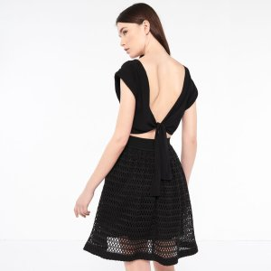 Dress With Tie At The Back - Dresses - Sandro-paris.com