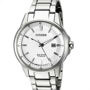 $161 Citizen Men's AW1490-50A Eco-Drive Stainless Steel Day-Date Watch