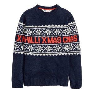 Sweater with Printed Motif | Dark blue | Kids | H&M US