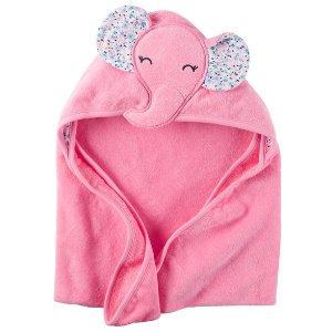 Baby Girl Little Elephant Hooded Towel | Carters.com