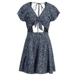 Floral Tie-Front Dress Short Dresses