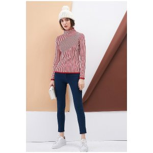 Ribbed mock neck knitted top CATP0046