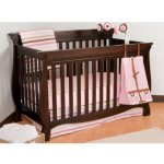 Stork Craft Carrara 4-in-1 Fixed Side Convertible Crib, Espresso