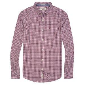 Men's Basic Gingham Long Sleeve Shirt | Original Penguin