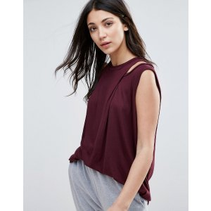 Y.A.S Drape Front Tunic Top