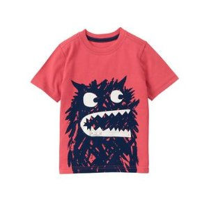 Toddler Boys Sunwashed Red Monster Pocket Tee by Gymboree